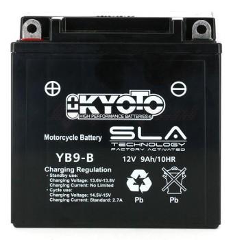 Product image: Kyoto - 512091 - Battery  YB9-B SLA-AGM - Without Acid. Ready to Use
