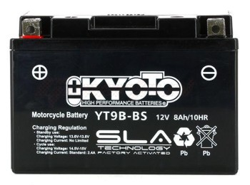 Product image: Kyoto - 512096 - Battery  YT9B-BS SLA-AGM - Without Acid. Ready to Use