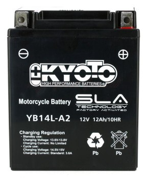 Product image: Kyoto - 512142 - Battery  YB14L-A2 SLA-AGM - Without Acid. Ready to Use