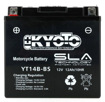 Product image: Kyoto - 512148 - Battery  YT14B-BS SLA-AGM - Without Acid. Ready to Use