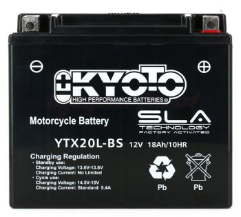 Product image: Kyoto - 512340 - Battery  YTX20L-BS SLA-AGM - Without Acid. Ready to Use