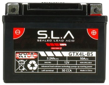 Product image: Kyoto - 513045 - Battery  Ytx4L-bs SLA AGM - Without Acid. Ready to Use