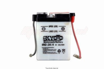 Product image: Kyoto - 706029 - Battery 6n2-2a-4 L 70mm  W 47mm  H 96mm 6v 2ah Acid 0,1l