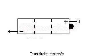 Product image: Kyoto - 706046 - Battery 6n4b-2a-3 L 100mm  W47mm  H 96mm 6v 4ah Acid 0,2l