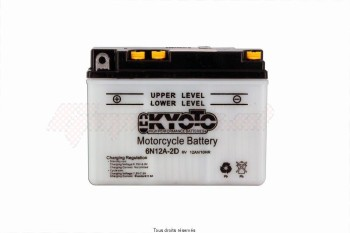 Product image: Kyoto - 706123 - Battery 6n12a-2d L 156mm  W 57mm  H 116mm 6v 12ah Acid 0,5l