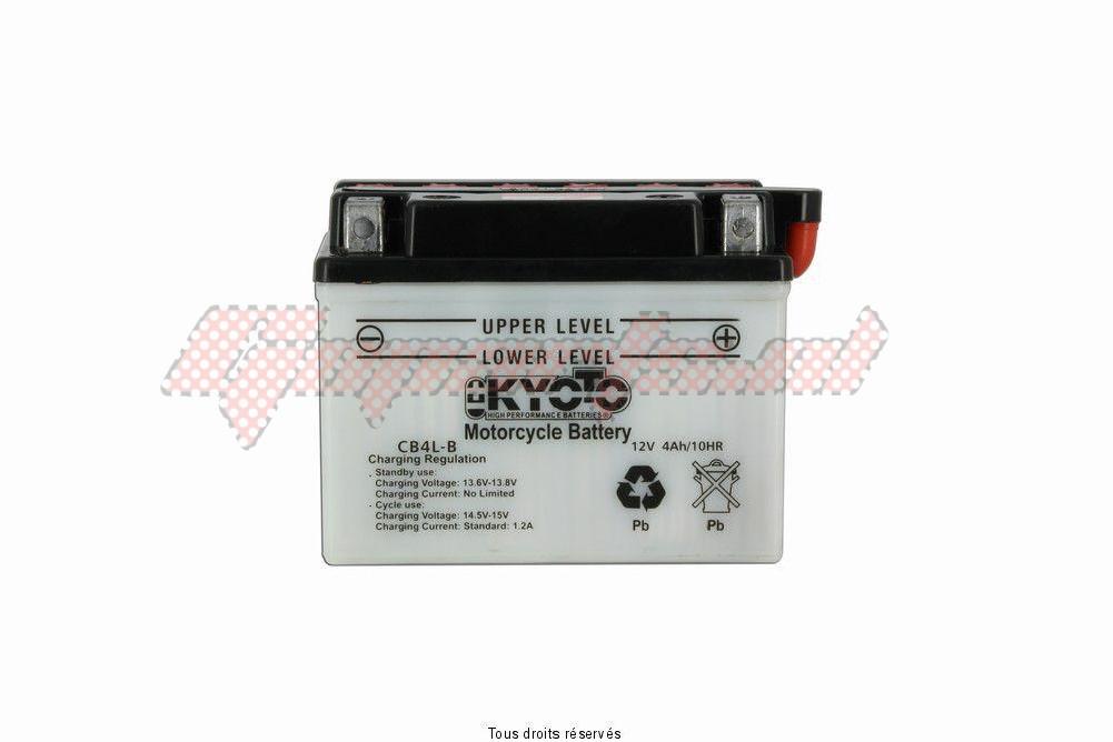 Product image: Kyoto - 712041 - Battery Yb4l-b L 121mm  W 71mm  H 93mm 12v 4ah Acid 0,28l  1