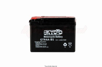 Product image: Kyoto - 712047 - Battery Ytr4a-bs  - Ss Entr. Acid L 114mm  W 49mm  H 85mm 12v 2.3ah Acid 0,14l