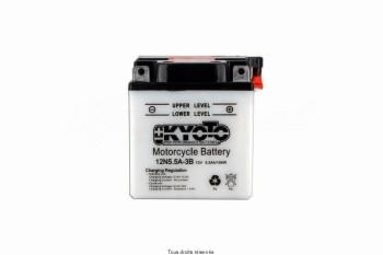 Product image: Kyoto - 712057 - Battery 12n5.5a-3b L 103mm  W 90mm  H 114mm 12v 5.5ah Acid 0,40l