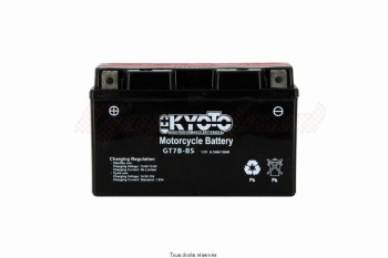 Product image: Kyoto - 712077 - Battery Yt7b-bs - Ss Entr. L 150mm  W 65mm  H 92mm 12v 6ah Acid 0.33l