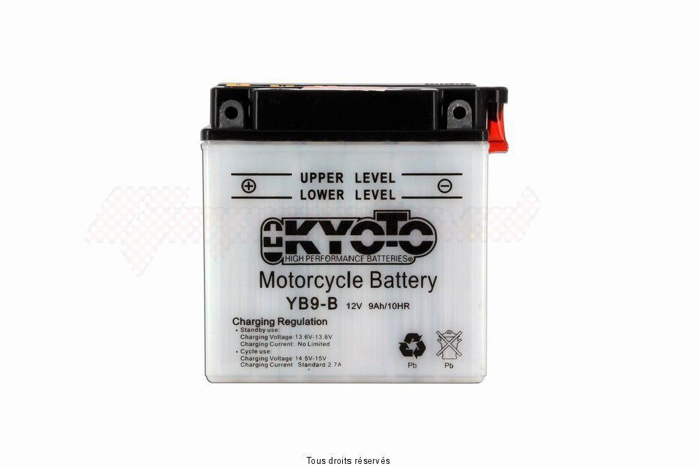 Product image: Kyoto - 712091 - Battery Yb9-b L 137mm  W 76mm  H 140mm 12v 9ah Acid 0,6l  1