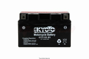 Product image: Kyoto - 712104 - Battery Ytz10s-bs - Ss Entr. AGM L 150mm  W 87mm  H  93mm 12v 8.6ah Acid 0.43l