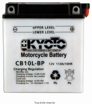 Product image: Kyoto - 712105 - Battery Yb10l-bp L 136mm  W 91mm  H 146mm 12v 11ah Acid 0,78l