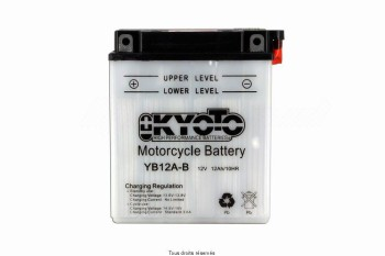 Product image: Kyoto - 712123 - Battery Yb12a-b L 135mm  W 81mm  H 161mm 12v 12ah Acid 0,78l