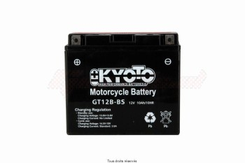 Product image: Kyoto - 712125 - Battery Yt12b-bs -Ss Entr. L 150mm  W 70mm  H 131mm 12v 11ah Acid 0.54l