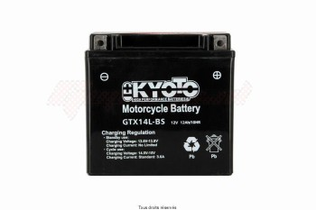 Product image: Kyoto - 712138 - Battery Ytx14l-bs - Ss Entr. Acid L 150mm  W 87mm  H 147mm 12v 12ah Acid 0,69l