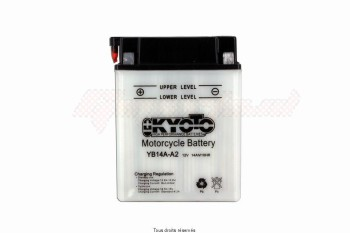 Product image: Kyoto - 712145 - Battery Yb14a-a2 L 135mm  W 91mm  H 176mm 12v 14ah Acid 0,87l