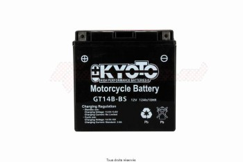 Product image: Kyoto - 712148 - Battery Yt14b-bs - AGM L 150mm  W 70mm  H 145mm 12v 12ah Acid 0.61l