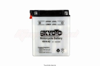 Product image: Kyoto - 712149 - Battery Yb14-a2 L 135mm  W 91mm  H 167mm 12v 14ah Acid 0,87l