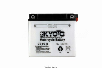 Product image: Kyoto - 712161 - Battery Yb16-b L 176mm  W 101mm  H 156mm 12v 19ah Acid 1,18l