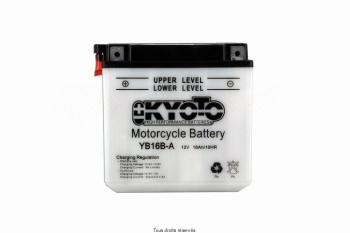 Product image: Kyoto - 712162 - Battery Yb16b-a L 162mm  W 92mm  H 162mm 12v 16ah Acid 1,3l