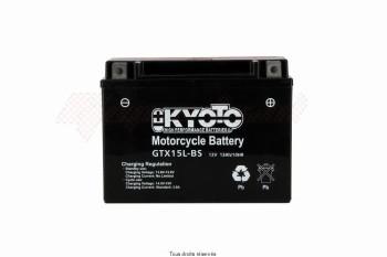 Product image: Kyoto - 712164 - Battery Ytx15l-bs - Ss Entr. Acid L 175mm  W 87mm  H 130mm 12v 13ah Acid 0,72l
