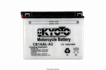 Product image: Kyoto - 712165 - Battery Yb16al-a2 L 205mm  W 71mm  H 164mm 12v 16ah Acid 1,0l