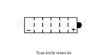 Product image: Kyoto - 712168 - Battery Yb16cl-b L 175mm  W 100mm  H 175mm 12v 19ah Acid 1,18l