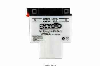 Product image: Kyoto - 712169 - Battery Hyb16a-a L 151mm  W 91mm  H 182mm 12v 16ah Acid 1,1l