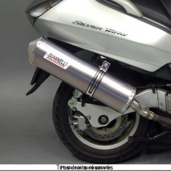 Product image: Giannelli - 73650A2 - Silencer  SILVERWING 400 '06  600 01/06 EU Approved  Silencer  Alu