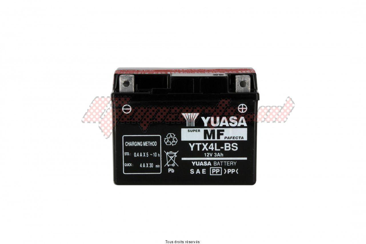Product image: Yuasa - 812045 - Battery Ytx4l-bs L 114mm  W 71mm  H 86mm 12v 3ah  1
