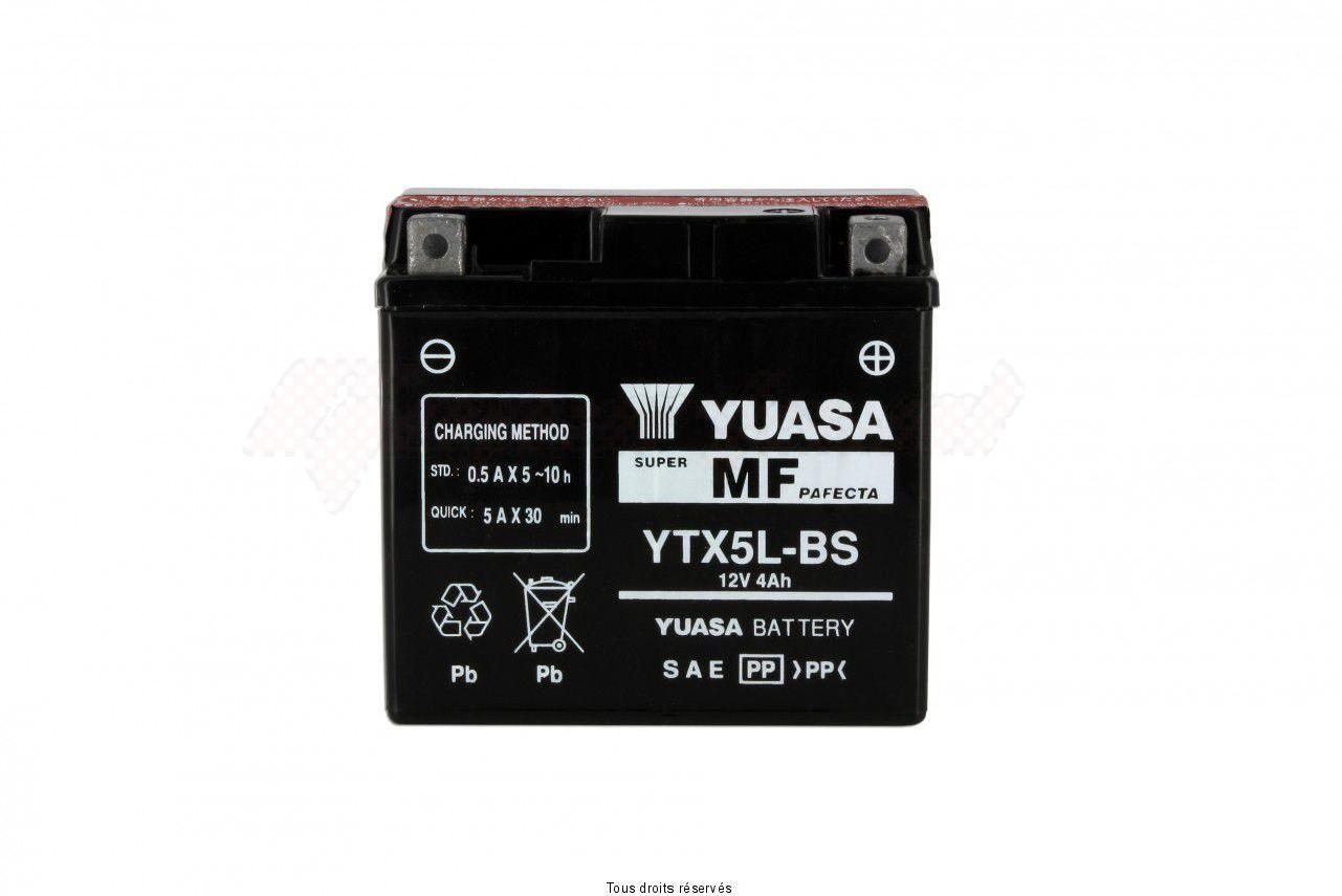 Product image: Yuasa - 812050 - Battery Ytx5l-bs L 114mm  W 71mm  H 106mm 12v 4ah  1