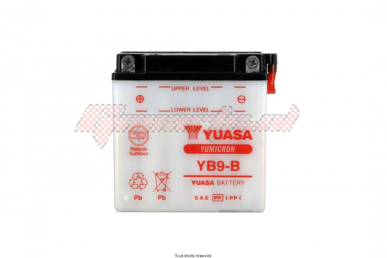 Product image: Yuasa - 812091 - Battery Yb9-b   L 137mm  W 76mm  H 140mm 12v 9ah  1