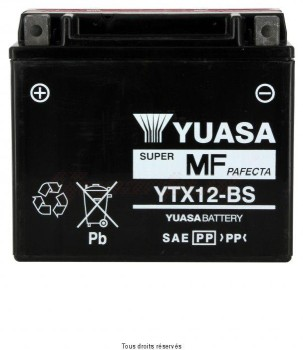 Product image: Yuasa - 812120 - Battery Ytx12-bs L 150mm  W 87mm  H 131mm 12v 10ah