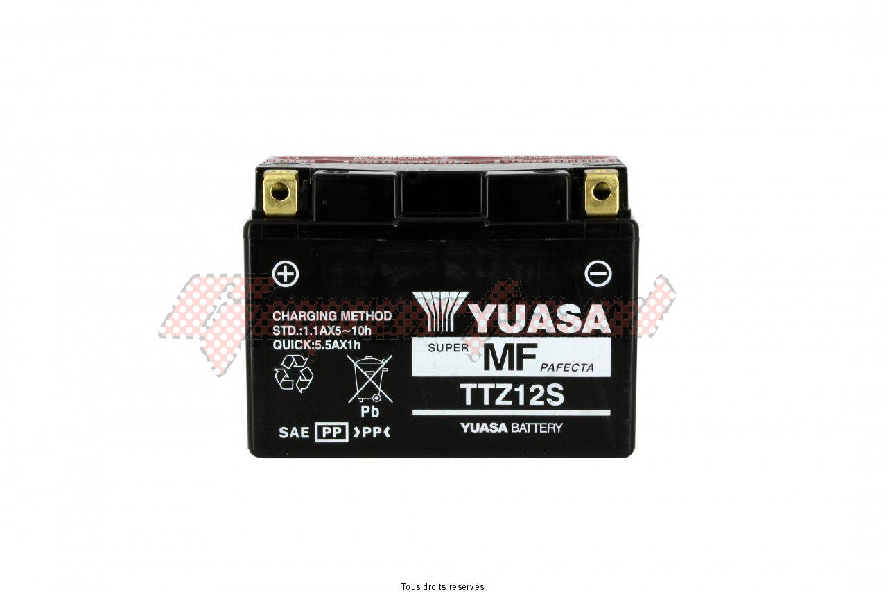 Product image: Yuasa - 812129 - Battery TTZ12-S - AGM L 150mm  W 87mm  H 110mm 12v 11ah Delivery with Acid  1