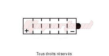 dimensioni: 176/x 101/x 156 12/V//19ah Batteria YUASA yb16-B