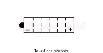 Product image: Yuasa - 812163 - Battery 51913 L 182mm  W 78mm  H 171mm 12v 19ah