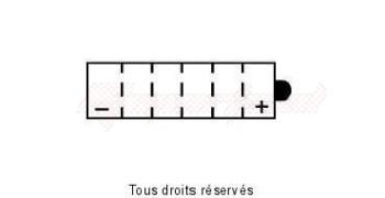 Product image: Yuasa - 812168 - Battery Yb16cl-b L 175mm  W 100mm  H 175mm 12v 19ah
