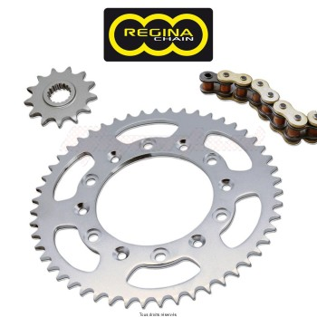 Product image: Regina - 95R005092-ORO - Chain Kit Rieju/Msa 50 Rr/Rc Sm/Spike Chain Standard year 99 02 Kit 12 48