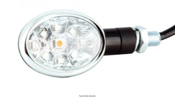 Product image: Sifam - CLI7032 - Mini indicator pair LED C.E Oval Black 75 x 40 mm Approved C.E