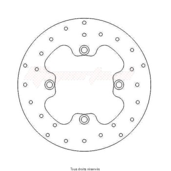 Product image: Sifam - DIS1042 - Brake Disc Honda Ø220x125x105  Mounting holes 4xØ10,5 Disk Thickness 4