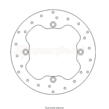 Product image: Sifam - DIS1051 - Brake Disc Honda Ø256x166x144,4  Mounting holes 4xØ10,5 Disk Thickness 5