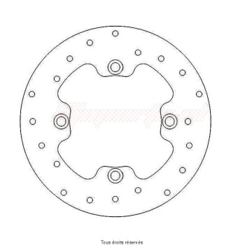 Product image: Sifam - DIS1055 - Brake Disc Honda Ø220x125x105,5  Mounting holes 4xØ10,5 Disk Thickness 5