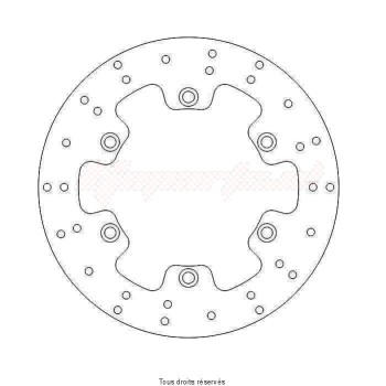 Product image: Sifam - DIS1061 - Brake Disc Honda Ø318x166x144  Mounting holes 6xØ10,5 Disk Thickness 5