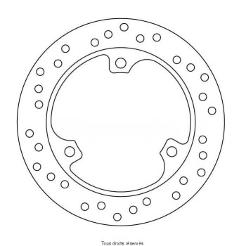 Product image: Sifam - DIS1070 - Brake Disc Honda Ø220x125x104  Mounting holes 3xØ10,5 Disk Thickness 4