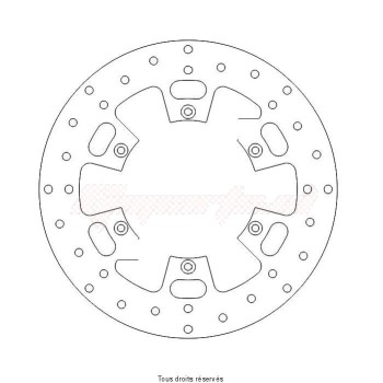 Product image: Sifam - DIS1077 - Brake Disc Ø260x135x124  Mounting holes 6xØ6,3 Disk Thickness 4