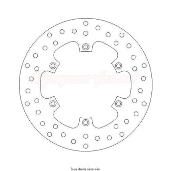 Product image: Sifam - DIS1088 - Brake Disc KTM  Ø220x125x110  Mounting holes 6xØ6,5 Disk Thickness 4