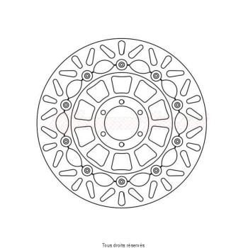 Product image: Sifam - DIS1156FW - Brake Disc Honda  Ø310x78x62   Mounting holes 6xØ6,5 Disk Thickness 4,5
