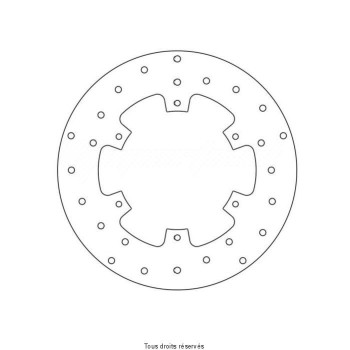 Product image: Sifam - DIS1205 - Brake Disc Yamaha  Ø267x150x132  Mounting holes 6xØ6,5 Disk Thickness 4,5