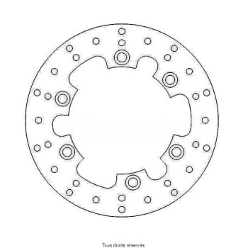 Product image: Sifam - DIS1207 - Brake Disc Yamaha Ø245x133x115  Mounting holes 6xØ6,5 Disk Thickness 4