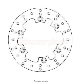Product image: Sifam - DIS1208 - Brake Disc Yamaha Ø245x133x115  Mounting holes 6xØ6,5 Disk Thickness 4